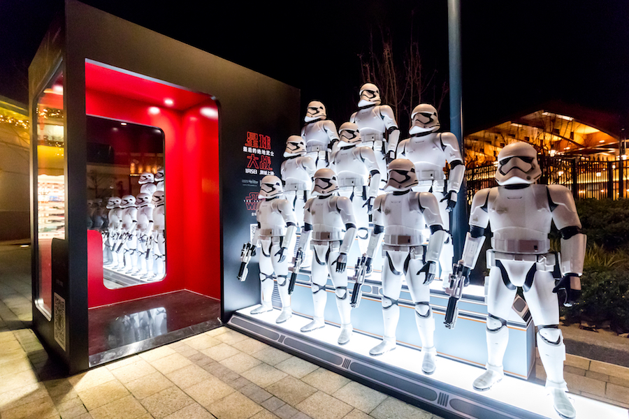 Stormtroopers at Disneytown in Shanghai