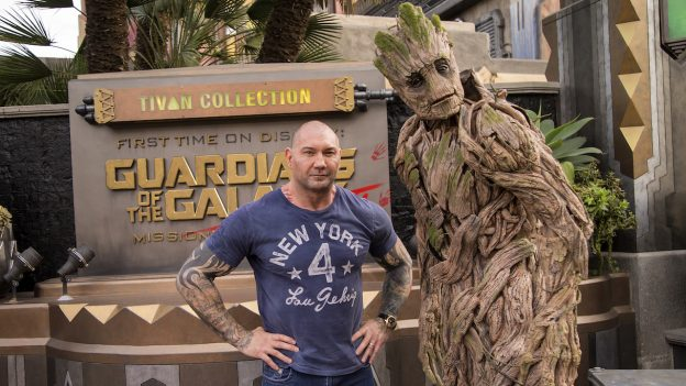 Dave Bautista Visits Disney California Adventure Park