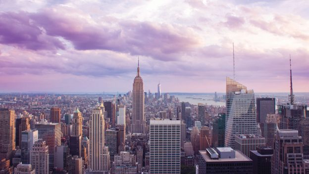 Image of New York City skyline with Empire State Building