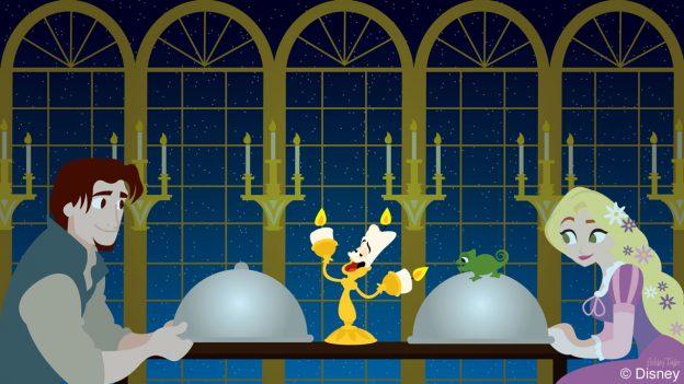 Disney Doodle - Rapunzel and Flynn Rider