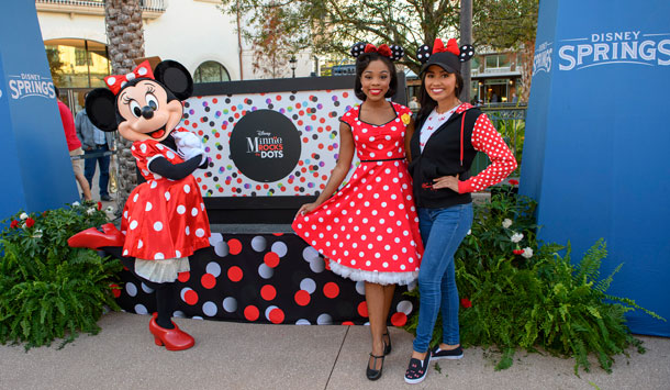 Guests Rock The Dots at Disney Springs