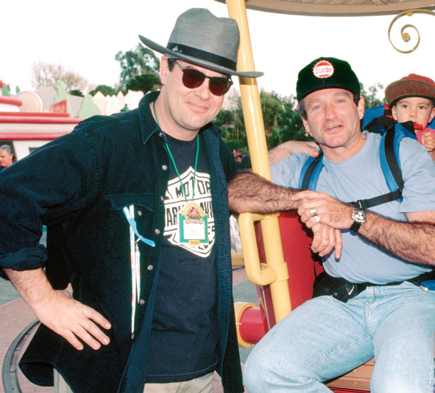 Dan Aykroyd and Robin Williams in Mickey's Toontown at Disneyland Park