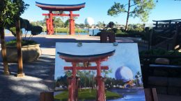 Sketches From The Park: Japan Pavilion at Epcot