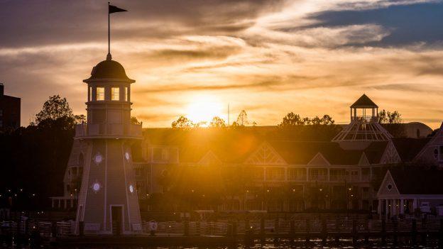 Sunset at Disney's Yacht Club Resort