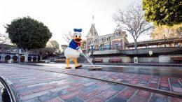 Donald Duck at Main Street USA Disneyland