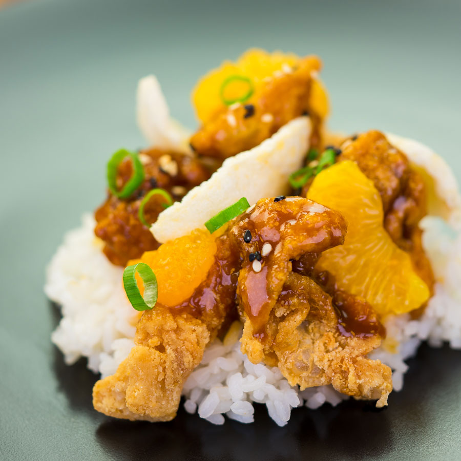 Crispy Orange Chicken & Rive at Disney California Adventure Food & Wine Festival