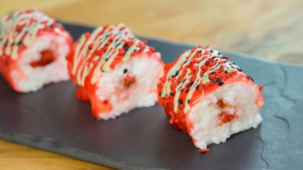 "Strawberry and Coconut Rice ""Frushi"" at Disney California Adventure Food & Wine Festival"