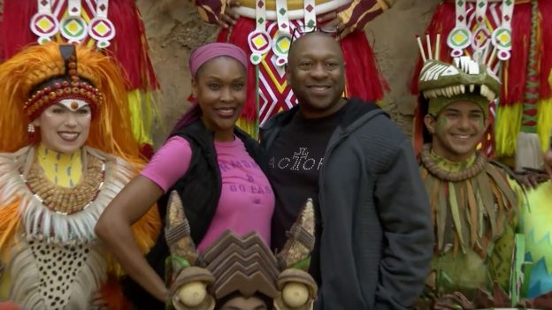 "Alton Fitzgerald White and Kissy Simmons meet the ""Festival of the Lion King' Cast at Disney's Animal Kingdom Park"
