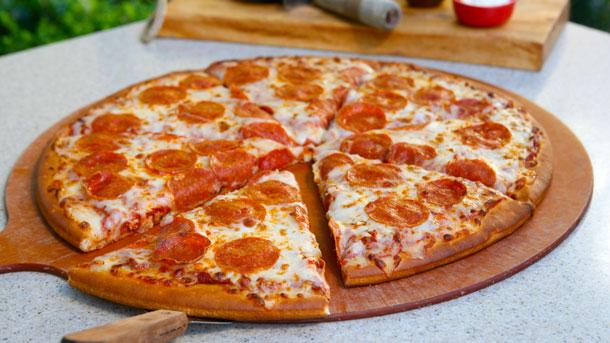 Pepperoni Pizza at Boardwalk Pizza & Pasta at Disney California Adventure Park