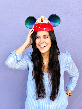 Girl wearing a Elena-inspired Ear Hat at Magic Kingdom Park