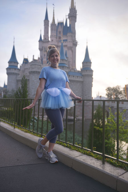 Cinderella-inspired look for 2018 Disney Princess Half Marathon Weekend presented by Children's Miracle Network Hospitals