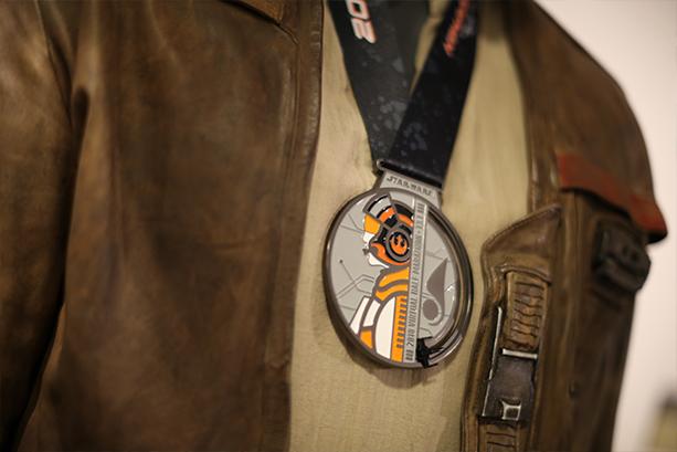 Star Wars Virtual Half Marathon Medal with Poe Dameron