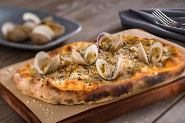 White Clam Hearth Oven Pie at Ale & Compass Restaurant at Disney's Yacht Club Resort