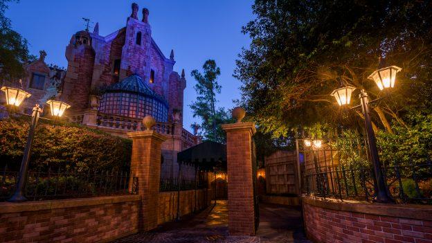 Haunted Mansion at Sunrise at Magic Kingdom Park