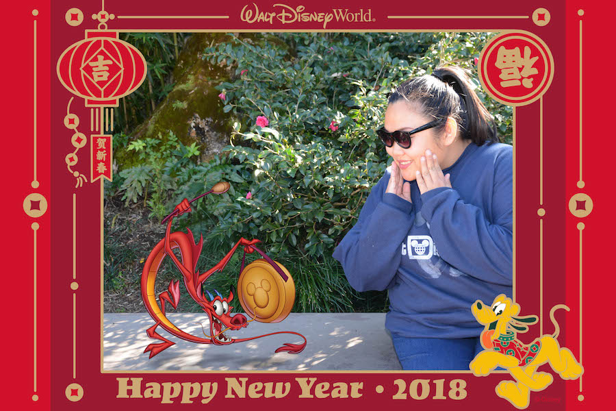 Magic Shot from PhotoPass with the Guardian Dragon Mushu