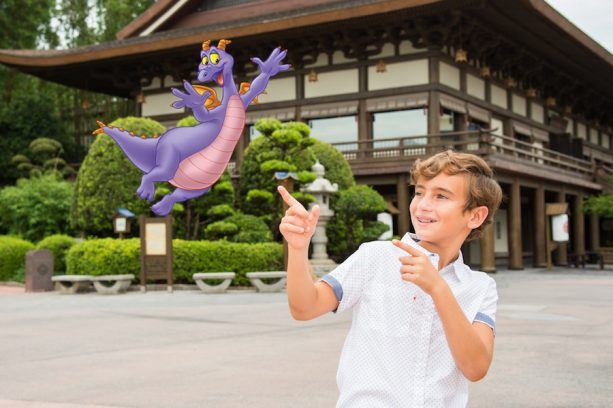 Figment Magic Shot from Disney PhotoPass at the World Showcase in Epcot