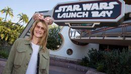 Laura Dern at Star Wars Launch Bay at Disneyland park