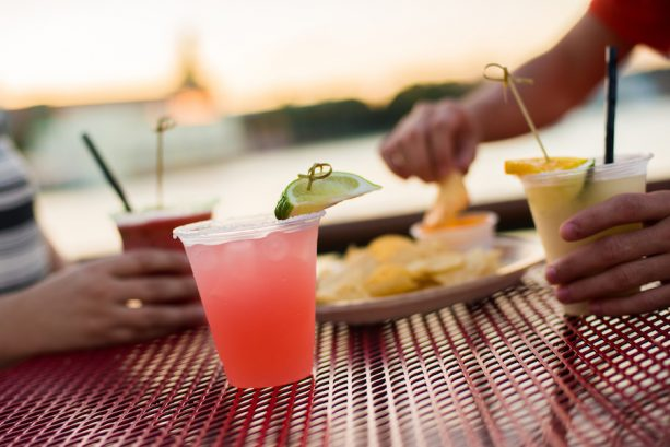 Assorted Margaritas and Nachos at BoardWalk Joe's Marvelous Margaritas