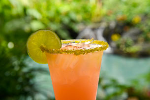 Rose Gold Margarita at Barefoot Pool Bar at Disney's Polynesian Village Resort