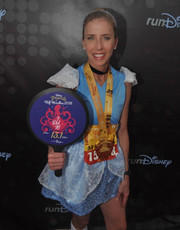 Teresa Arntz of Pewaukee, Wis. at the Disney Princess Half Marathon