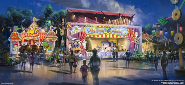 A new carnival game box to experience Toy Story Mania! opening at Toy Story Land | Pic: Disney