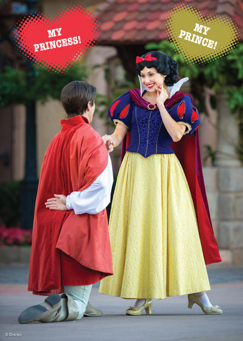 Valentine's Day Card - Snow White and the Prince