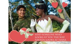 Valentine's Day Card - Tiana and Naveen