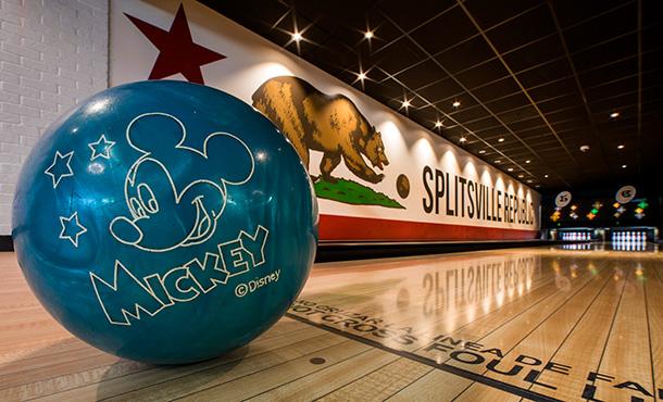 Mickey Ball Splitsville Downtown Disney District Disneyland Resort