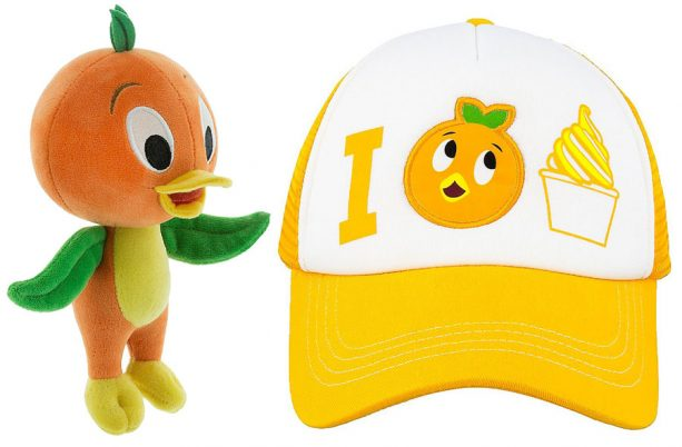 Orange Bird Hat Plush