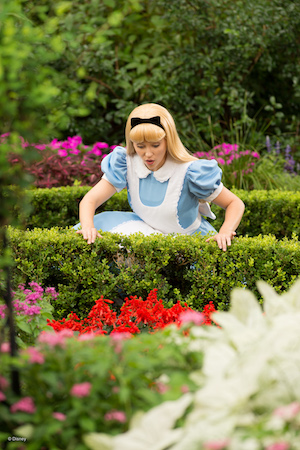 Alice at the United Kingdom Pavilion in Epcot