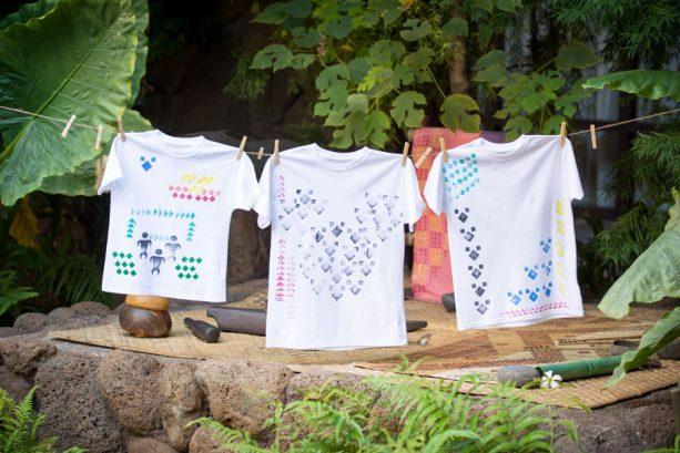 Family Fun Activities at Aulani, a Disney Resort & Spa - T-Shirt Stamping