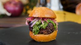Disney California Adventure Food & Wine Festival - Beef Tenderloin Sliders with Garlic Chimichurri and Pickled Onions