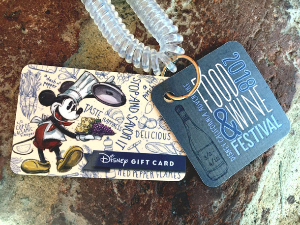 Disney California Adventure Food & Wine Festival gift card