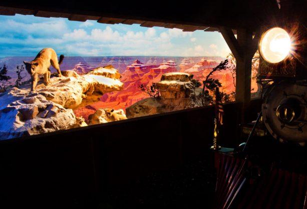 Grand Canyon Diorama seen aboard the Disneyland Railroad