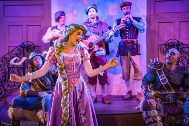 Enjoy musical performances from Rapunzel and the Snuggly Duckling Thugs at Rapunzel's Royal Table aboard the Disney Magic