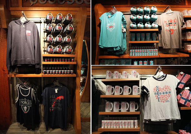 Merchandise in the Norway pavilion at Epcot