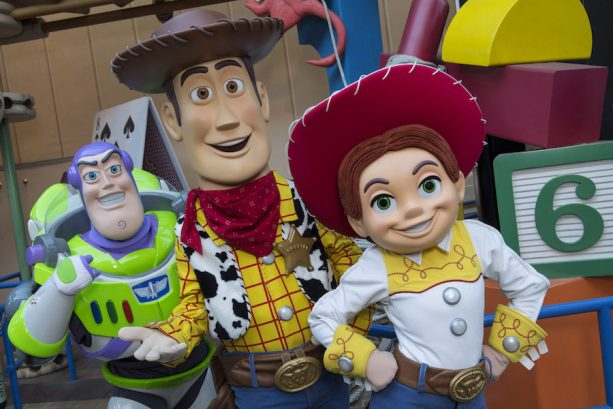 Buzz Lightyear, Woody, and Jessie at Disney's Hollywood Studios