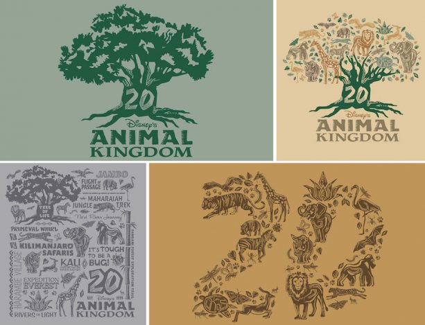 Disney's Animal Kingdom 20th Anniversary Logo Art