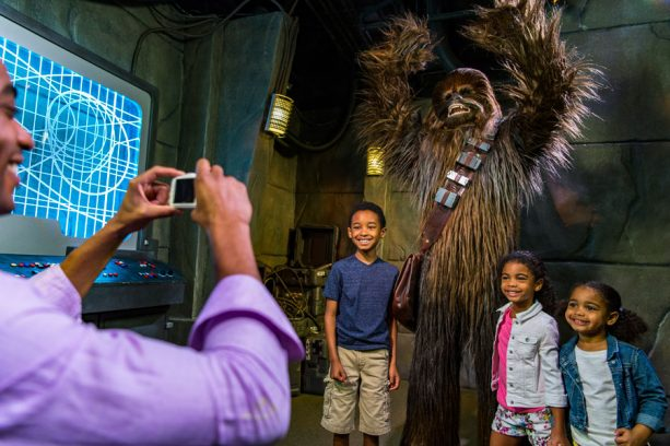 Guests meet Chewbacca at Disney's Hollywood Studios