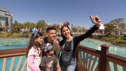 "Yanira Giselle of ""Glam By Yanira"" and her family at Disney Springs at Walt Disney World Resort"