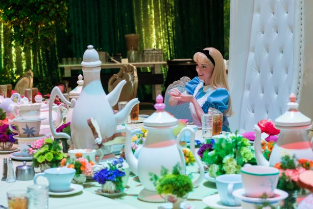 Alice Enjoys an 'Alice in Wonderland'-Themed Party