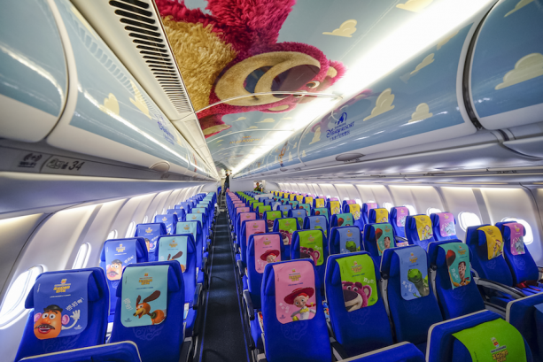 Interior of 'Toy Story'-Themed Plane