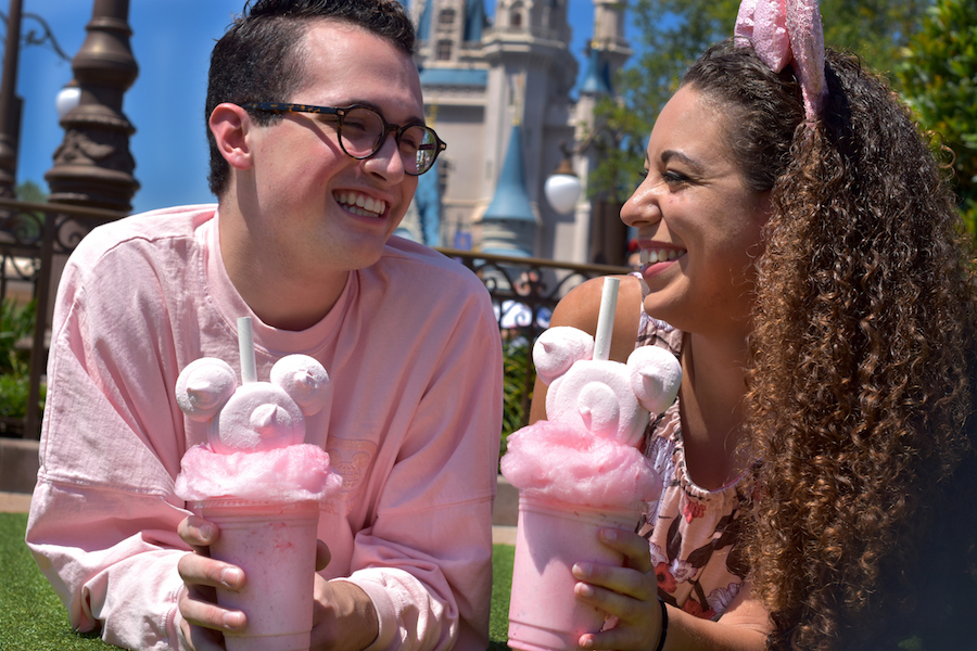 Millennial Pink Milkshake at Auntie Gravity's Galactic Goodies at Magic Kingdom Park