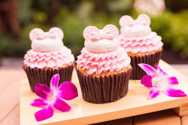 Millennial Pink Cupcake at Capt. Cooks at Disney's Polynesian Village Resort