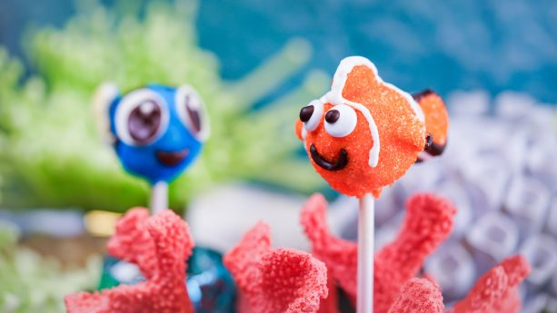 Nemo and Dory Cake Pops for Pixar Fest at Pooh Corner at Disneyland Park