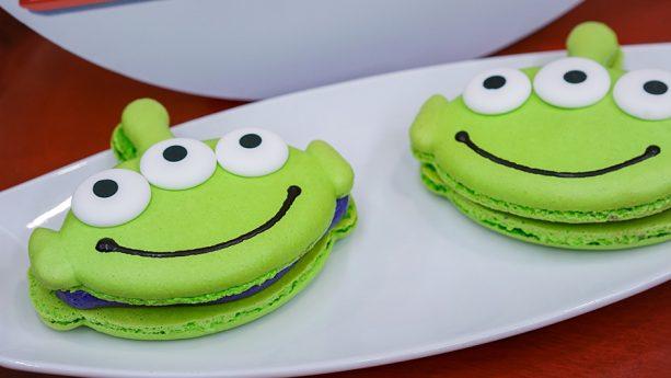Pixar Fest Macarons at Alien Pizza Planet