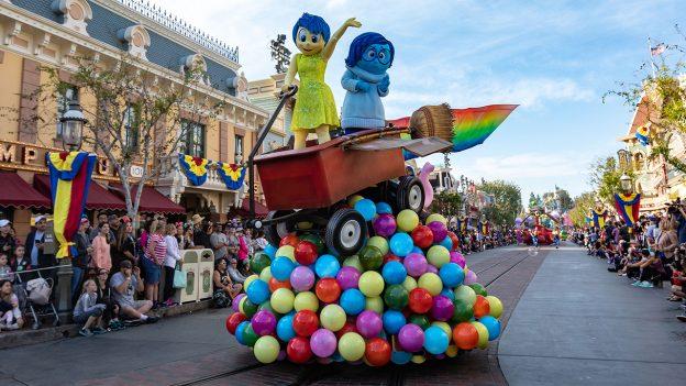 'Pixar Play Parade' at Disneyland park during Pixar Fest