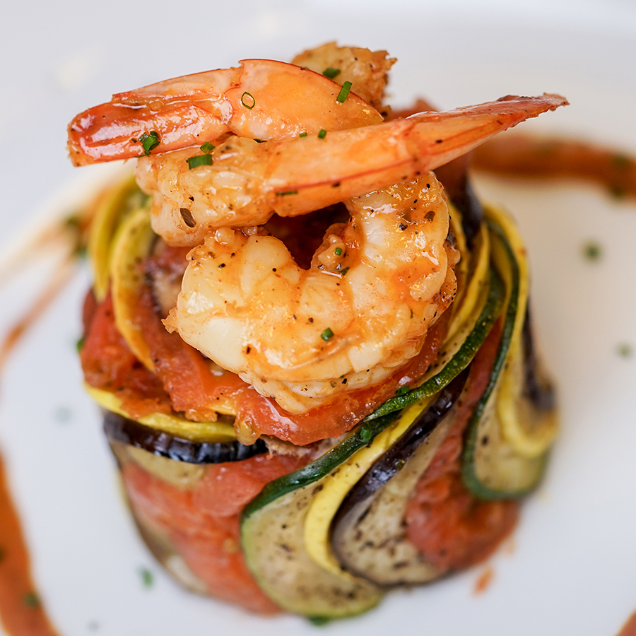 Pixar Fest Shrimp Ratatouille Byaldi at Cafe Orleans