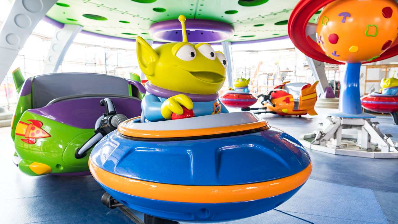 Alien Swirling Saucers Image