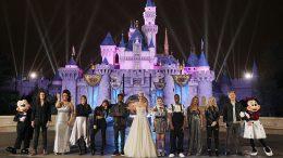 American Idol contestants at Disneyland park